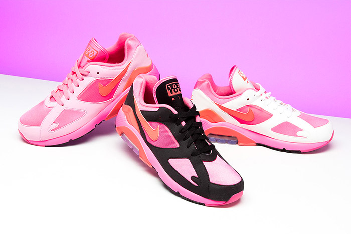 Pretty in Pink: CDG x Nike Air Max 180s