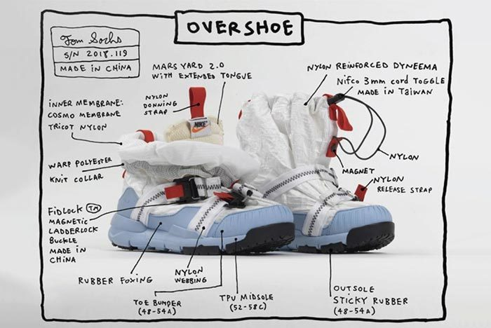 Tom Sachs Officially Reveals the Nike Mars Yard Overshoe