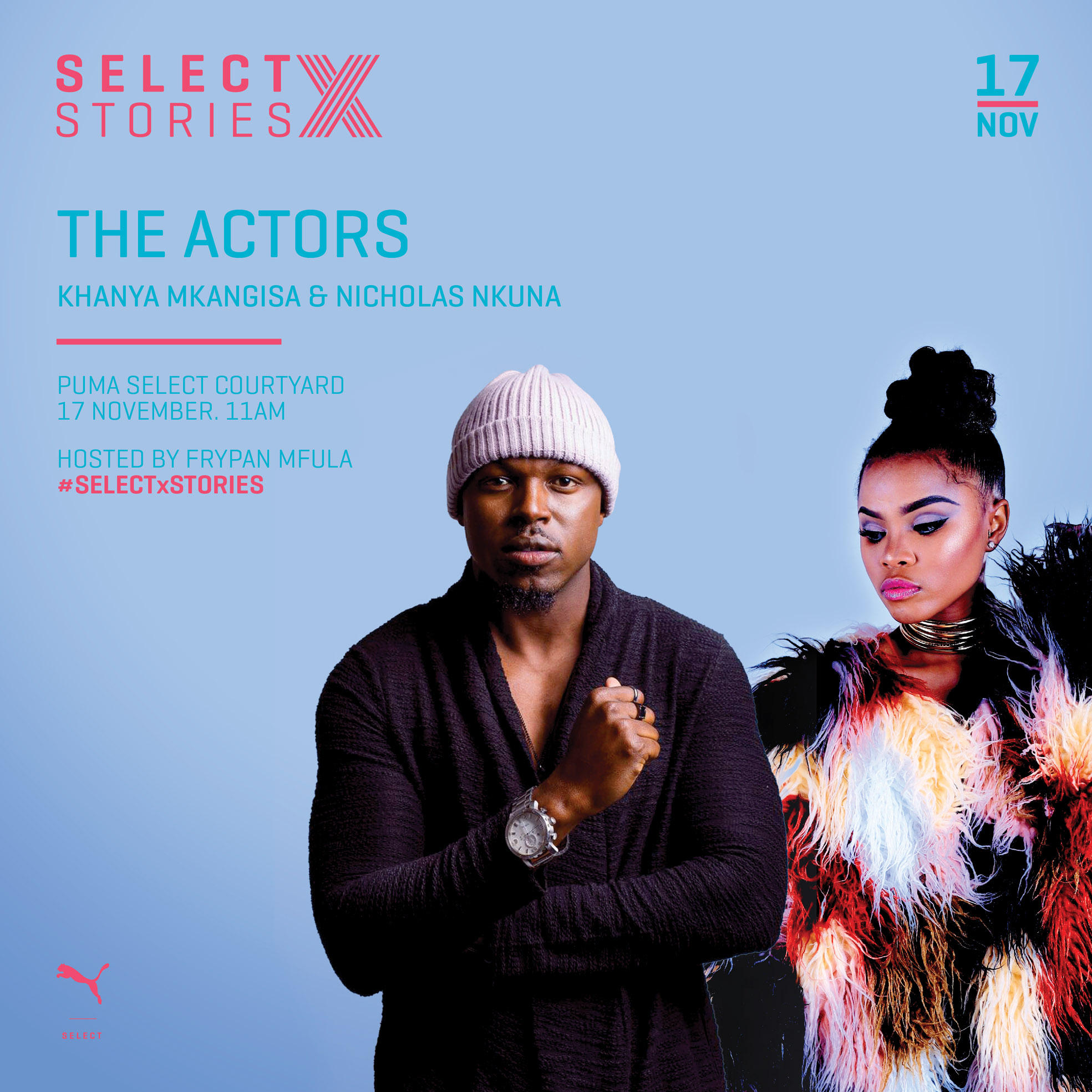 Learn about showbiz at PUMA Select X Stories on 17 November