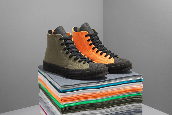 JW Anderson and Converse Craft Felt Chuck 70s
