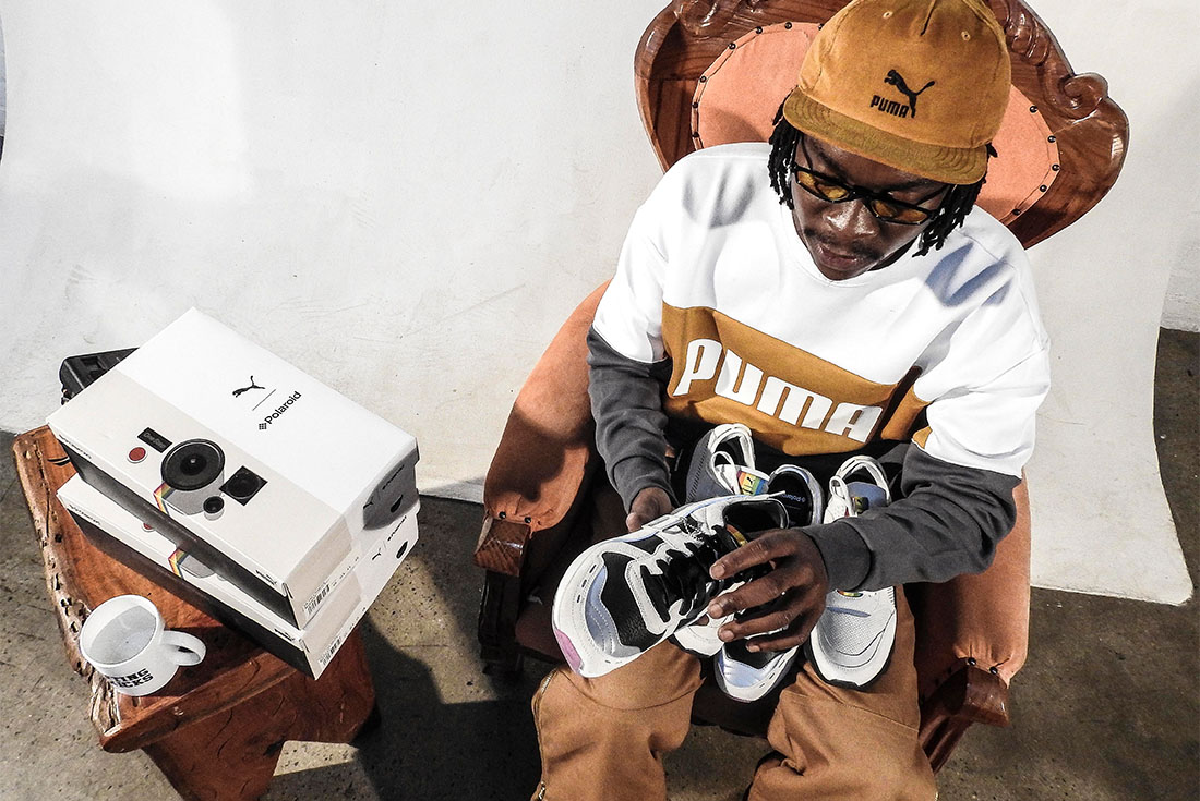 Mkay Frash Unboxes the PUMA & Polaroid's RS Sneaker Pack