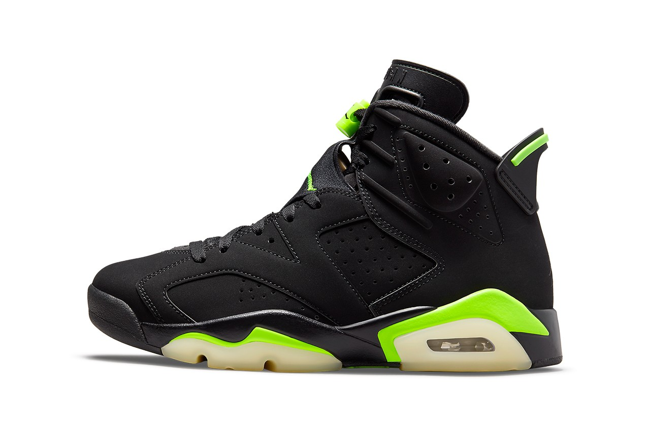 "Official Images of the Air Jordan 6 ""Electric Green"""